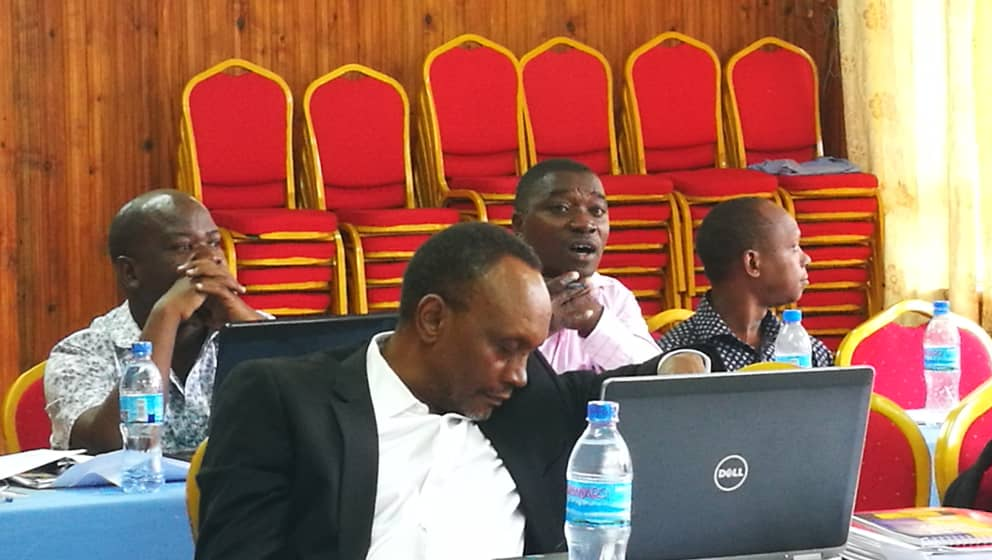 Mr. Libenanga P. Forest Officer in Njombe District Council among the Project stakeholders making some inputs